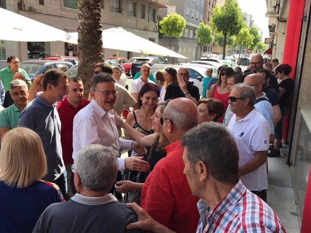 El secretario del PSPV ha visitado la agrupación socialista