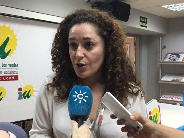 La parlamentaria andaluza de IULV-CA Inmaculada Nieto