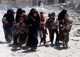 Las fuerzas iraquíes abren vías de escape para que los civiles huyan de la Ciudad Vieja de Mosul