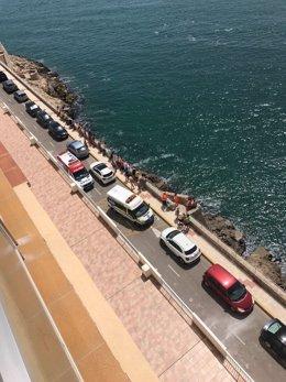 Rescate a un hombre en el Faro de Cullera