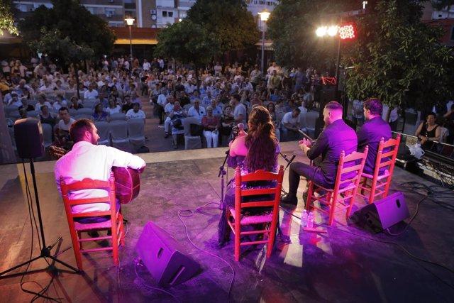 Festival Flamenco celebrado en el Polígono San Pablo de Sevilla