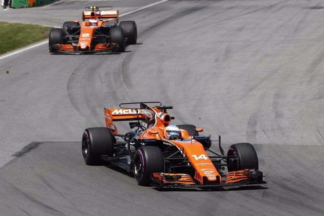 Fernando Alonso y Stoffel Vandoorne en Canadá (McLaren)