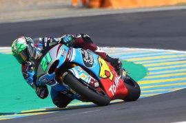 Morbidelli se lleva la pole de Moto2 en una sesión accidentada