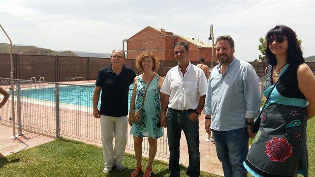 Soro en la inauguración del complejo deportivo y la piscina de Villastar.