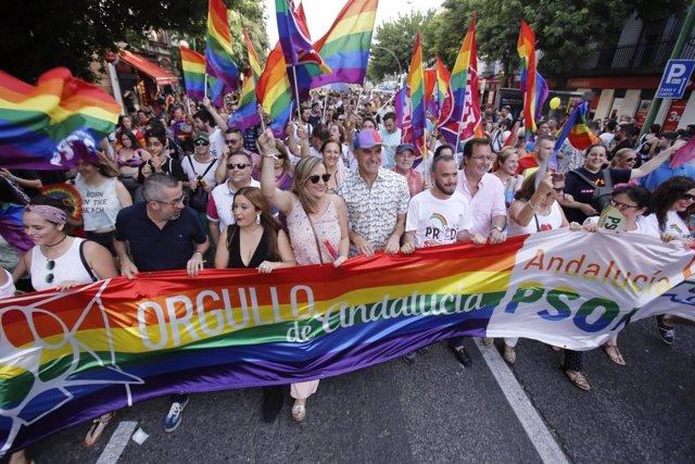 Manifestación del Orgullo de Andalucía 2017 en Sevilla