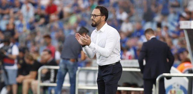 El técnico del Getafe CF, José Bordalás