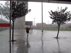 Activado el aviso amarillo por precipitaciones intensas esta noche en Euskadi