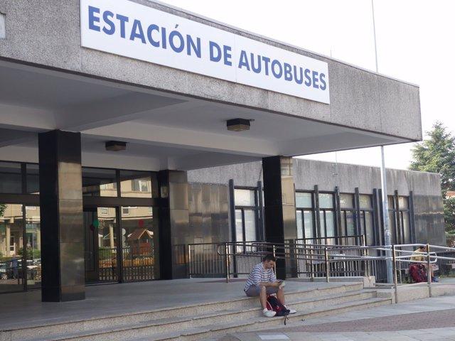 Estación de autobuses de Santiago, en la primera jornada de huelga