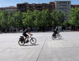 La unidad de Policía en bicicleta de Valladolid cuenta con 22 voluntarios