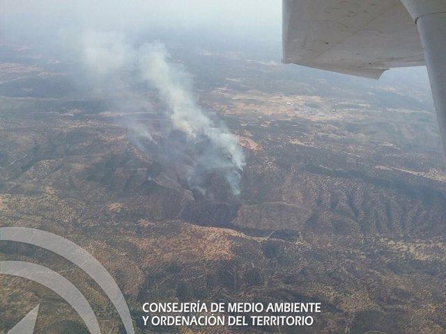 Incendio en la Sierra Norte de Sevilla