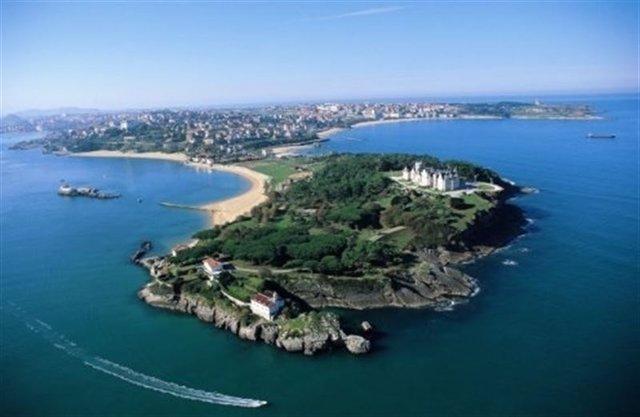 Vista aérea de la Península de La Magdalena (Archivo).