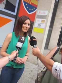 Lorena Roldán, diputada de Cs en la sede del partido