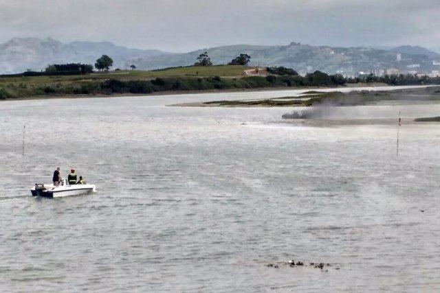 Sofocado incendio barca Argoños
