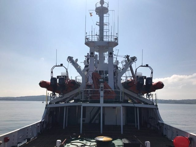 El 'Open Arms' zarpa de A Coruña al Mediterráneo para salvar vidas