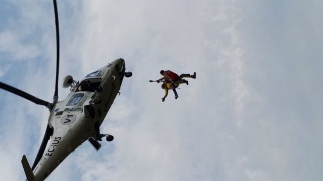 El helicóptero se ha desplazado porque era una zona escarpada