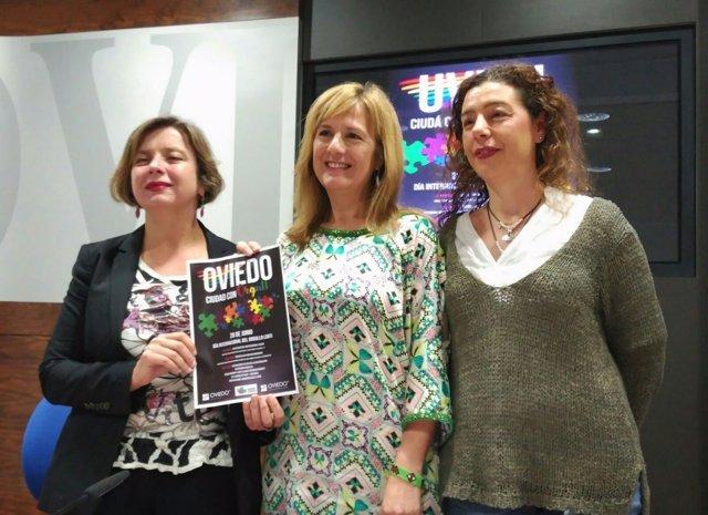 Ana Taboada, Marisa Ponga y Cristina Pontón.