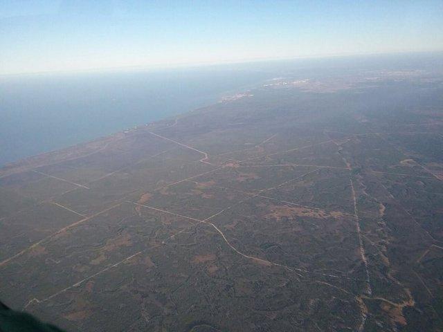 Focos perimetrados en el incendio de Moguer (Huelva)
