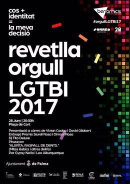 Cartel de la Revetlla del Orgullo LGTBI en Palma