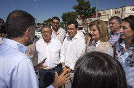 """Moreno alaba la coordinación entre administraciones en el incendio y confía en tener """"noticias positivas"""""""