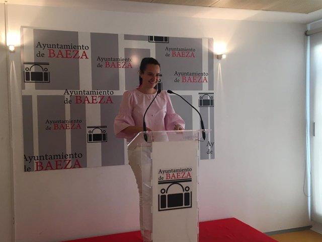 Rocío Poza durante la rueda de prensa