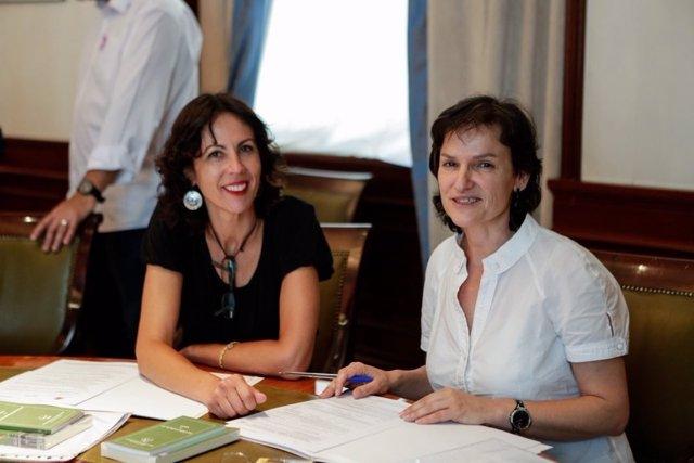 Isabel Salud y Eva García Sempere, diputadas de IU