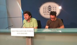 """Podemos acusa al PP balear de """"suscribir el silencio de Bárcenas"""" al mantener en el escaño a Gijón"""