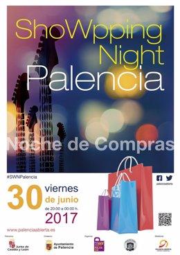 Cartel de la Showpping Night de Palencia 2017