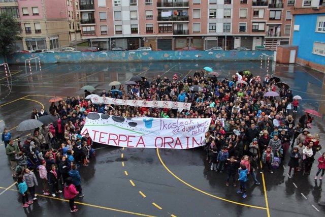 Alumnos de Arteagabeitia piden el aterpe