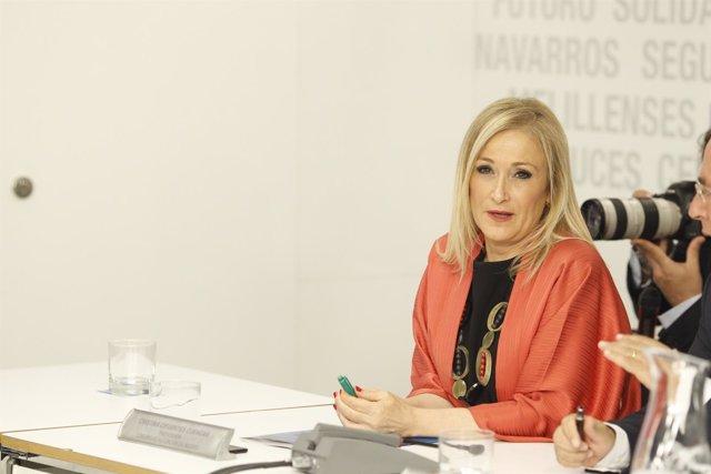 Cristina Cifuentes en la reunión del Comité Ejecutivo Nacional del PP