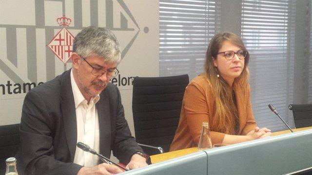 A.Colom y J.Sanz en rueda de prensa sobre pisos turísticos
