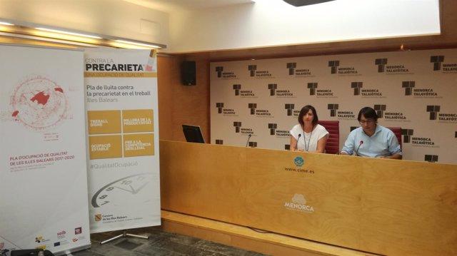 Negueruela y Salord presentan el Plan de Empleo de Calidad de Menorca