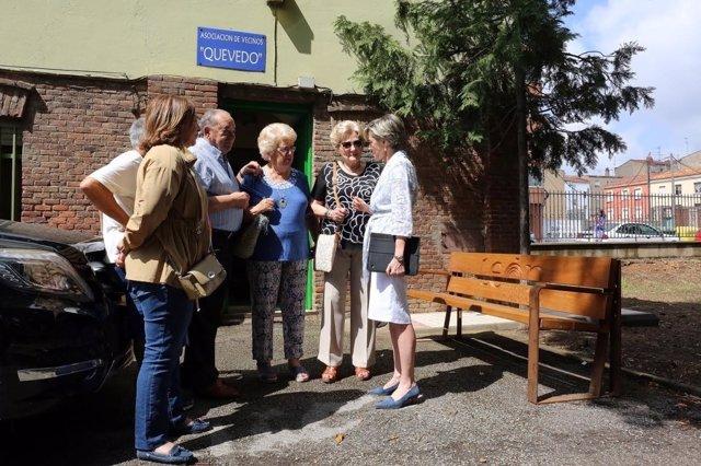 León: las concejalas visitan el Parque de Quevedo