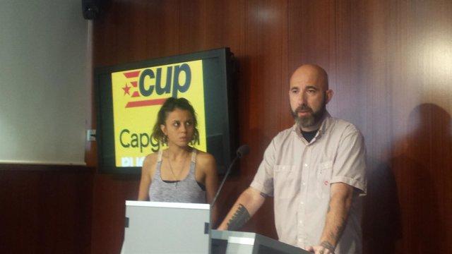 Maria Rovira y Josep Garganté (CUP)