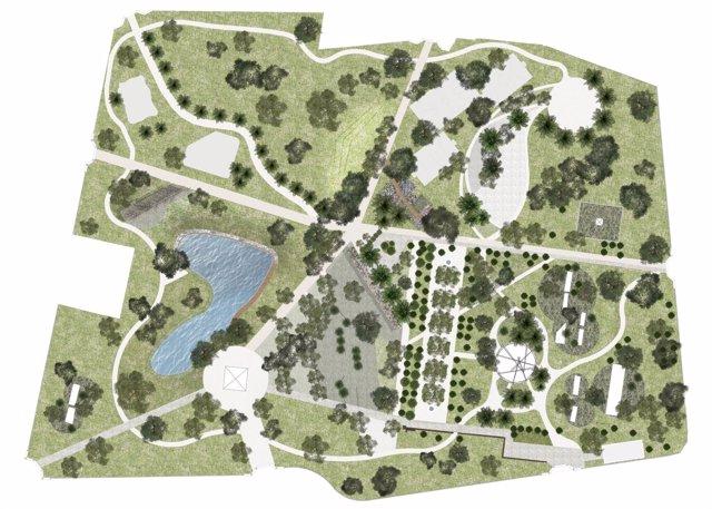 Plano Parque de San Rafael