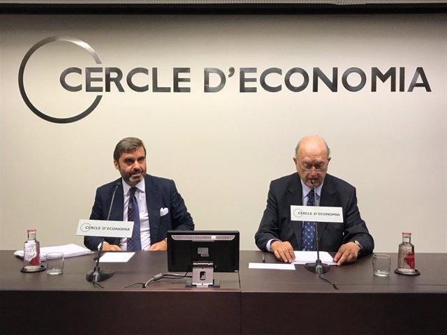 Embajador de España en la UE P.García-Berdoy, pte.Cercle d'Economía J.J.Bruguera