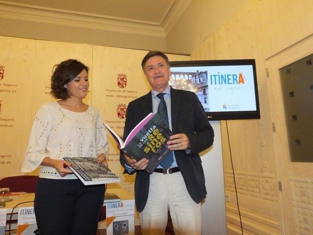 Segovia: la diputada de Cultura y el presidente de la Diputación