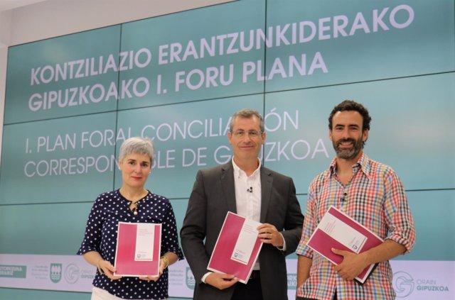 Miren Elgarresta, Markel Olano y Josemi Rico