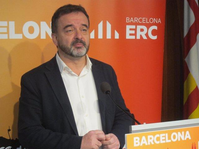 Alfred Bosch (ERC), durante la rueda de prensa
