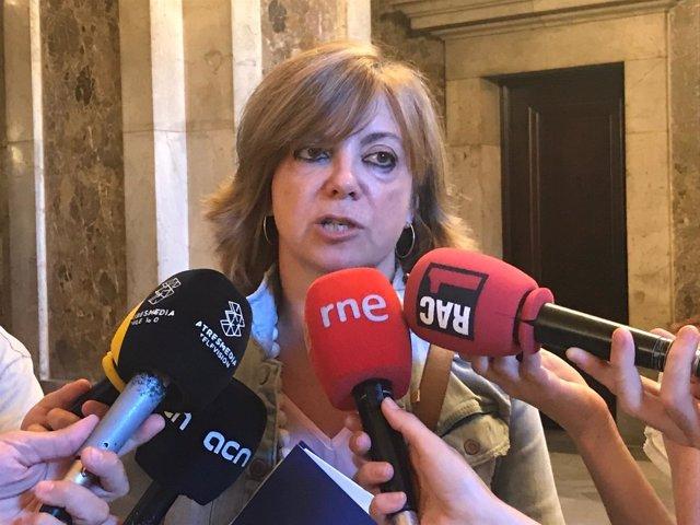 La consellera M.Borràs