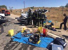 Un choque entre una furgoneta y un monovolumen deja un herido grave en la M-841