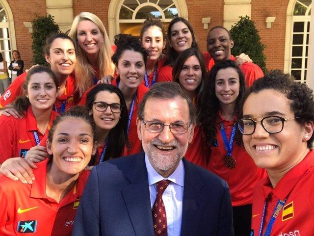 Mariano Rajoy selección española baloncesto femenino