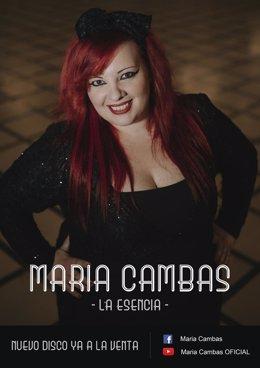 María Cambas con su disco 'La esencia'