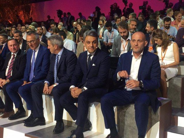 El presidente de Seat, Luca de Meo, en la presentación del modelo Arona