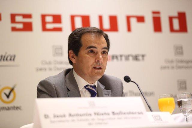 El secretario de Estado de Seguridad, José Antonio Nieto en una jornada