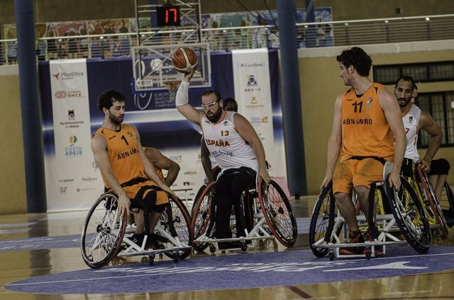 Selección española masculina Europeo silla ruedas Holanda