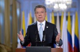 """Santos agradece a la ONU su """"apoyo y labor"""" en el proceso de desarme de las FARC"""