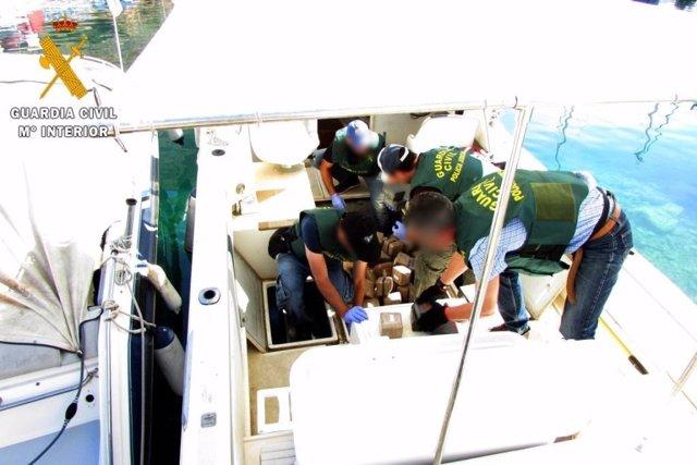 Hachís intervenido en embarcaciones de recreo en Almería