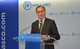 """Alonso (PP) pide responsabilidad al PNV para no """"elevar el precio"""" de los PGE 2018"""