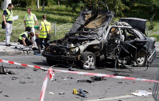Atentado con coche bomba en Kiev contra un coronel