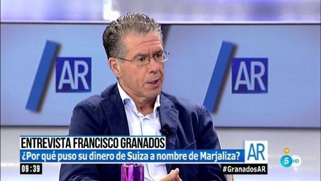 Francisco Granados en una entrevista en Ana Rosa